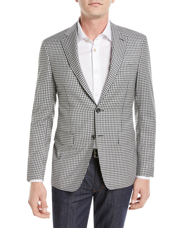 Check Super 130s Wool Blazer