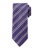 Double Stripe Silk Tie