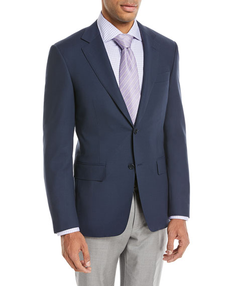 Canali New Basic Hopsack Two-Button Travel Blazer