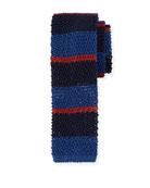 Horizontal Striped Knit Tie