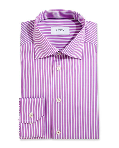 Bold-Stripe Dress Shirt