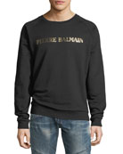 Foil-Logo Pullover Sweatshirt
