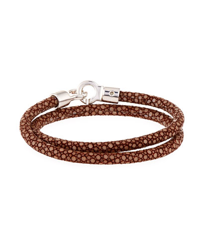 Men's Stingray Wrap Bracelet, Saddle