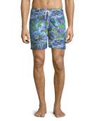 Maui Print Classic-Fit Swim Trunks