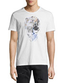 Floral Skull Graphic T-Shirt