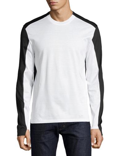 Colorblock Long-Sleeve T-Shirt