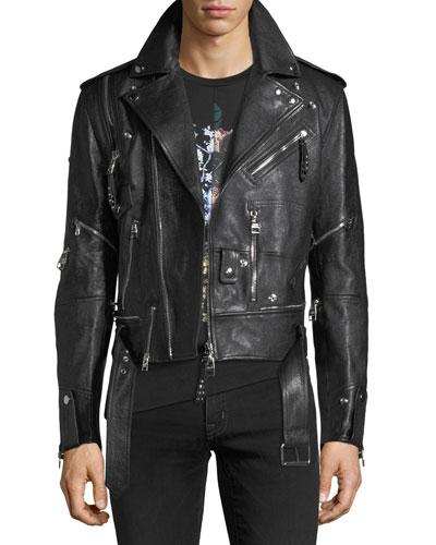 Buffalo Leather Biker Jacket