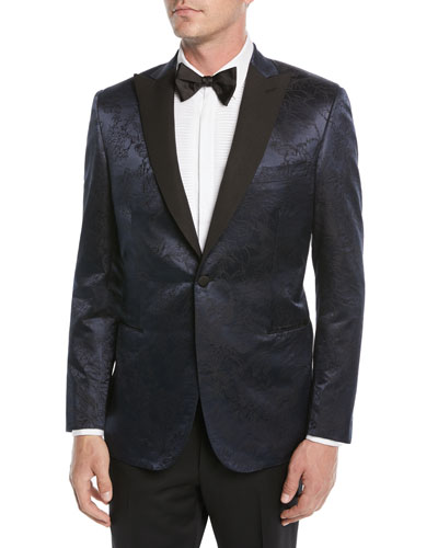 Men's Floral Jacquard Dinner Jacket