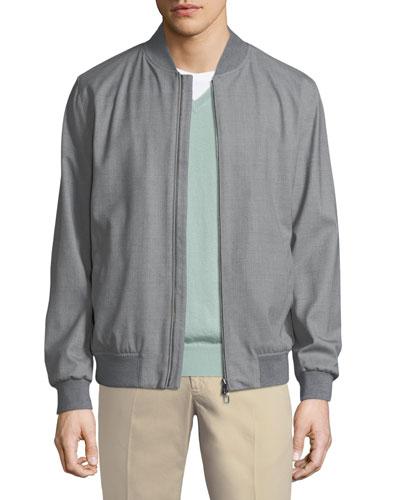 Techno-Wool Storm Bomber Jacket