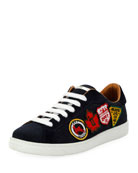 Men's Low-Top Sneaker with Patches