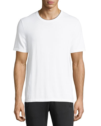 Cotton T-Shirt with Tipping