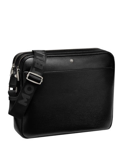 4810 Westside Zip-Top Leather Messenger Bag