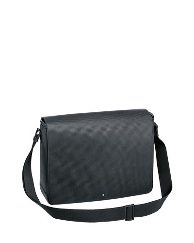 Extreme Textured Leather Messenger Bag