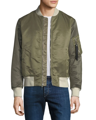 Manston Colorblock Bomber Jacket