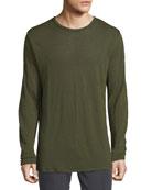 Men's Owen Linen Long-Sleeve Slub T-Shirt