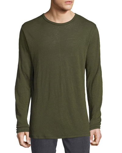 Men's Owen Linen Long-Sleeve Slub T-Shirt