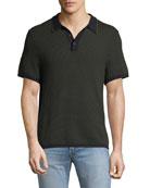 Finn Textured Graphic-Stitch Polo Shirt