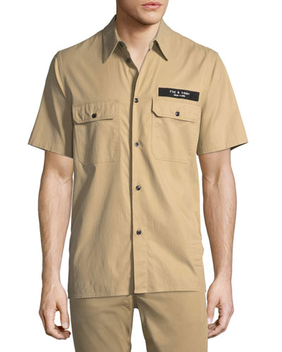 Men's Standard Issue Mechanic Casual Button-Down Shirt