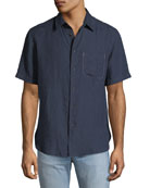 Men's Short-Sleeve Linen Beach Sport Shirt