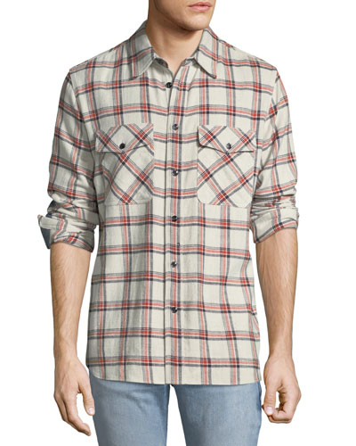 Jack Plaid Shirt with Elbow Patches