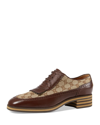 bbfc84770d6 Quick Look. Gucci · Leather and GG Brogue Shoe
