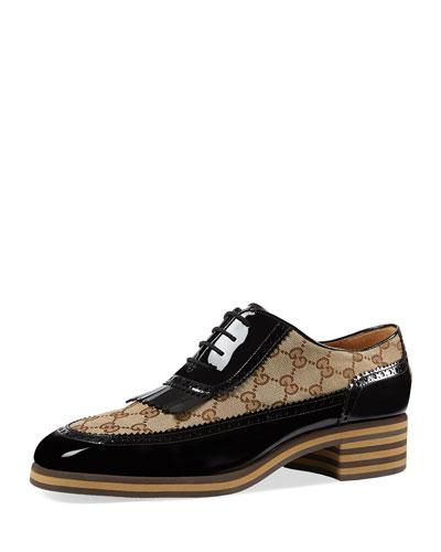 Thomson GG Supreme/Patent Lace-Up Brogue Shoe