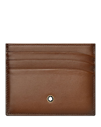 Leather card holder neiman marcus quick look montblanc meisterstuck sfumato leather card holder available in brown reheart Gallery