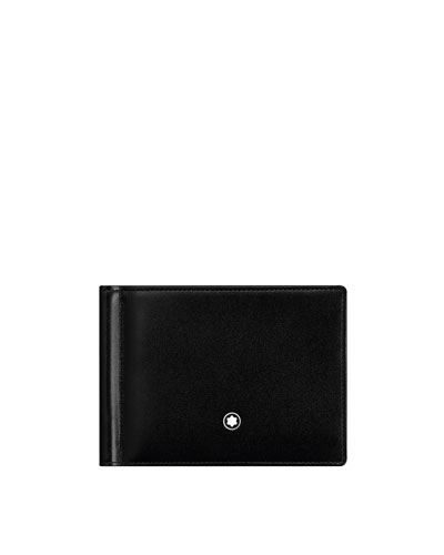 Meisterstuck Leather Bifold Wallet with Money Clip, Black