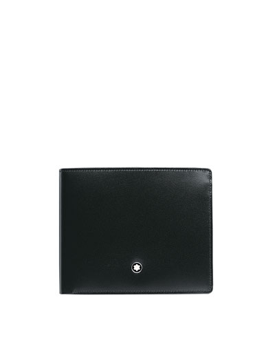 Meisterstuck Leather Bifold Wallet, Black