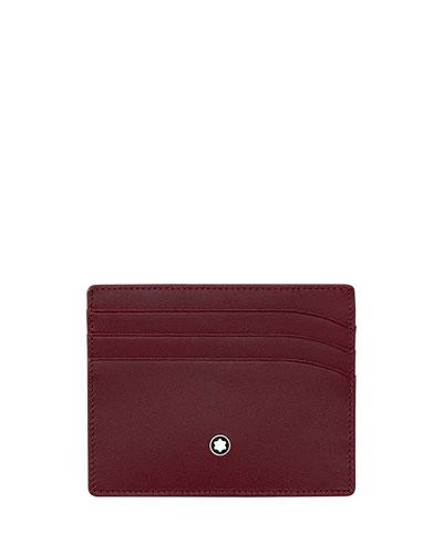 Leather Card Case, Burgundy