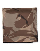 Camouflage Silk Pocket Square