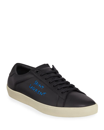 69449bcde89 Quick Look. Saint Laurent · Men s Leather Logo Low-Top Sneakers