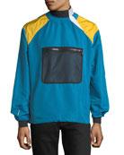 Colorblock Nylon Pullover Jacket