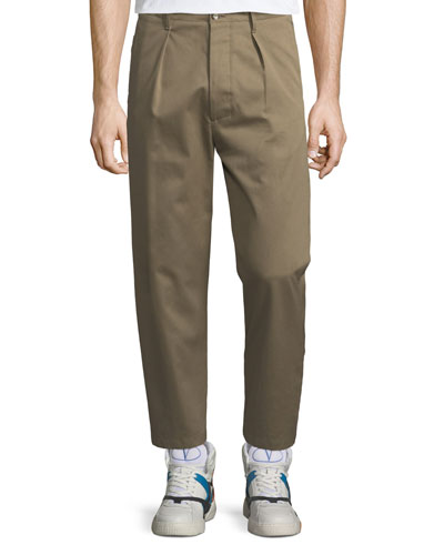 fbae6db465f6 Quick Look. Valentino · Pleated-Front Gabardine Chino Trousers