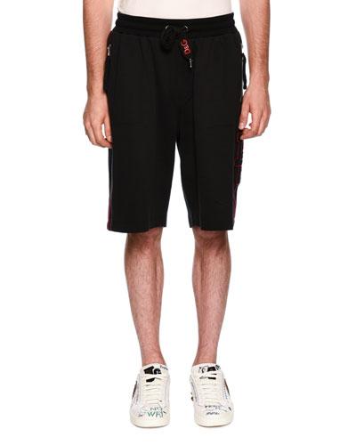 Zip-Pocket Drawstring-Waist Shorts