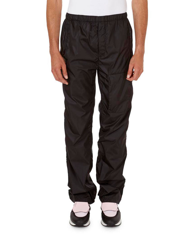 Solid Nylon Jogging Pants