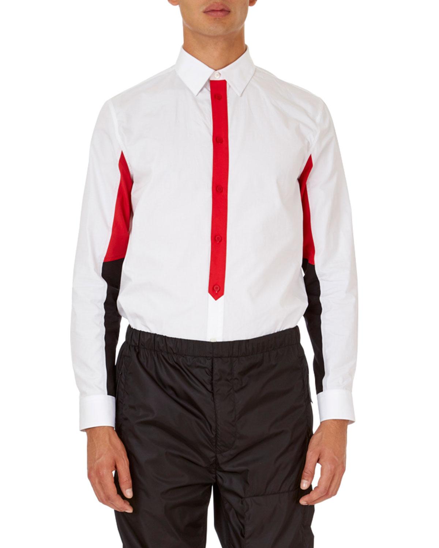 Colorblock Poplin Shirt