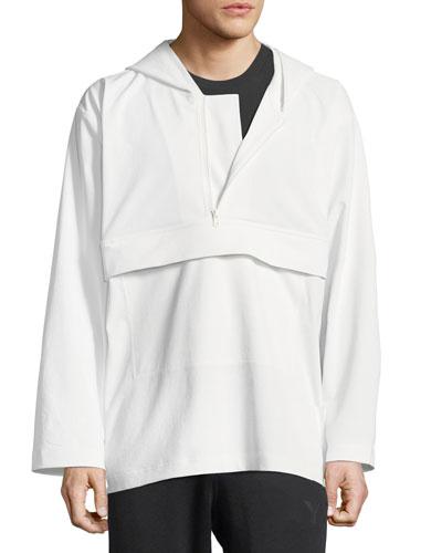 Quarter-Zip Hooded Track Jacket