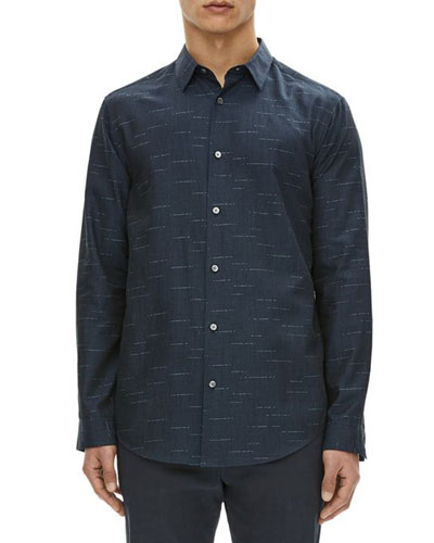 Tait Dash Pattern Cotton Sport Shirt