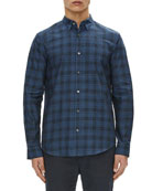 Edward Micro-Stone Plaid Sport Shirt