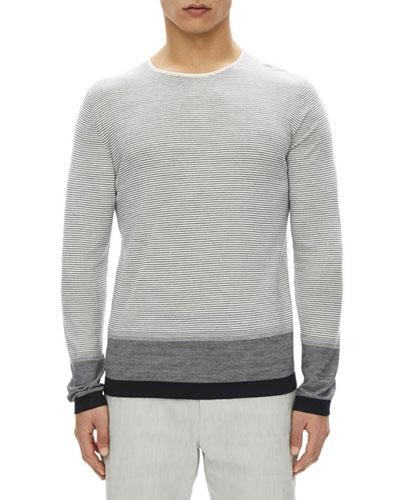 Cyar Striped Fine-Gauge Merino Wool Sweater