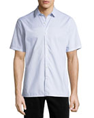 Daze Striped Short-Sleeve Sport Shirt