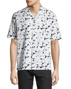 Daze Geometric-Print Short-Sleeve Sport Shirt
