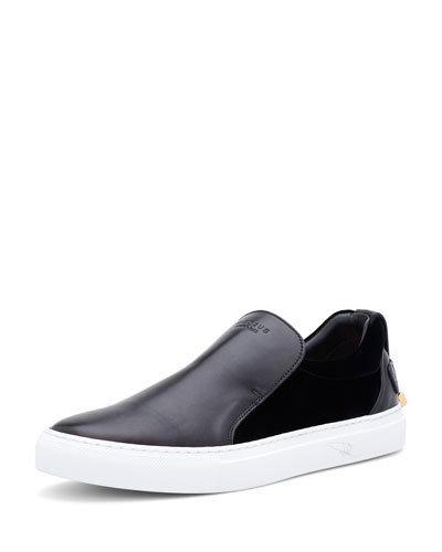 40 mm Quincy Leather & Velvet Slip-On Sneaker