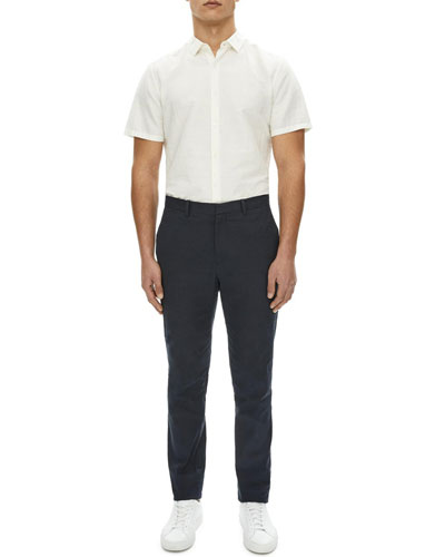 Zaine Urban Stretch-Linen Straight-Leg Pants