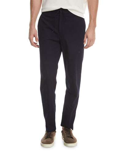 Solid Cotton Seersucker Pants