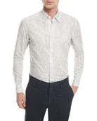 Floral-Print Linen-Cotton Sport Shirt