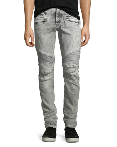 Blinder Biker Jeans, Carbon Deconstructed - Long