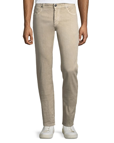 5-Pocket Linen-Blend Pants