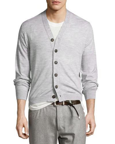 Fine Gauge Wool Cashmere Sweater | Neiman Marcus